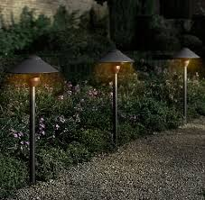 wonderful solar path lights bronze metal warm white led convertible 2 pack