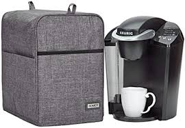 4.5 out of 5 stars. Amazon Com Homest Dust Cover Compatible With Keurig Coffee Maker Single Serve Coffee Makers Cover With Storage Pockets For K Cup Grey Kitchen Dining
