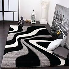 white and black rug designer rug with contour cut waves pattern black grey white regarding and white and black rug