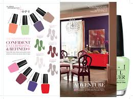 Clark And Kensington Opi Color Chart Nail Colors For Your Wall 2015 Opi Color Palette By Clark