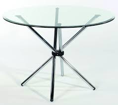 modern round glass top table with creative chrome stick base legs gorgeous table bases for