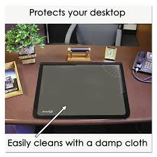 desk pad w clear overlay black pinit