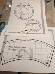 once you have your pattern pieces cut them out to the first line for the wall of my hat i altered the pattern a bit to make it bigger to fit the