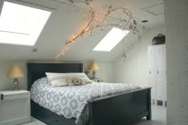 Bedroom:Attic Bedroom Idea With Christmas Lighting Idea Attic Bedroom Idea  With Christmas Lighting Idea