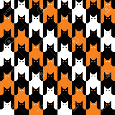 Halloween Pattern Delectable CatsTooth Halloween Pattern Royalty Free Cliparts Vectors And