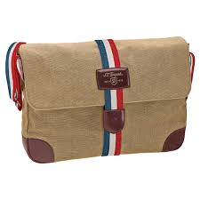 add to my lists st dupont iconic messenger bag beige canvas cognac leather