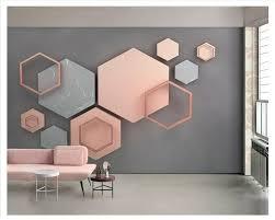 3d Hexagonal Mosaic Modern Minimalist Geometric Tv Background Wall