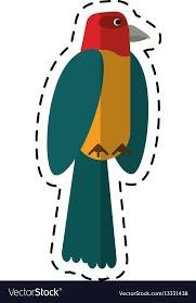 Animal Icon Cartoon Parrot Bird Animal Icon