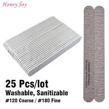 Us 14 31 5 Off 25pcs Lot Professional Nail File 120 Coarse 180 Fine Double Side Grit Manicure Pedicure Nail Art Tools In Nail Files Buffers From