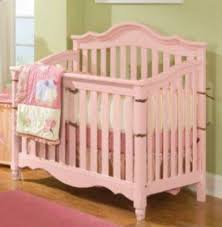Spring Garden Pink Wood Baby Crib  Furniture a