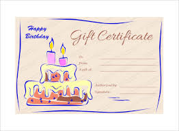Birthday Certificate Templates Free Printable Adorable Blank Birthday Gift Certificate Template Unofficialdb