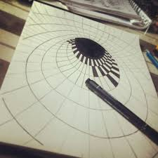 how to draw 3d illusion on paper drawn 3d art optical illusion