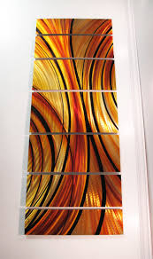 red wall art rhythmic curves metal wall sculpture  dv studio