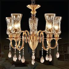 rustic lamp shades chandelier glass shade 5 light faux crystal large