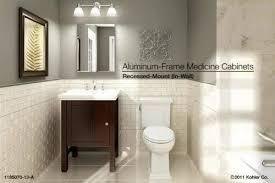 bathroom cabinet kohler. shop kohler 30-in x 26-in rectangle recessed aluminum mirrored medicine cabinet at lowes.com bathroom kohler b