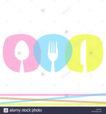 Abstract Menu Design Colorful Abstract Restaurant Menu Design With Cutlery Stock