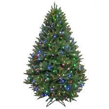 Christmas Tree With Changing Lights Tis Your Season 7 5 Ft Pre Lit Led California Cedar