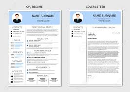 Modern Resume Templete Resume Template For Men Modern Cv And Cover Letter Layout With