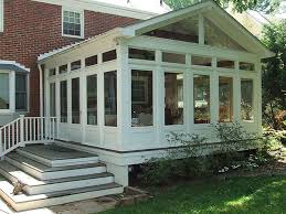Screened Porch Privacy Lattice Sunroom Additions Back Porches Three Season Porch