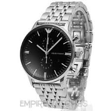 new mens emporio armani gianni black steel watch ar0389 rrp image is loading new mens emporio armani gianni black steel watch