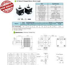 Stepper Motor Size Chart Diagram Besides Chart Nema Premium Motors Further Nema 14 30