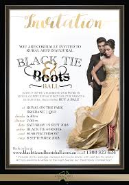 Event Invitation Black Tie And Boots Ball