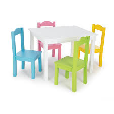 furniture kids room rectangle white painted wooden table for four decor with colorful chairs childrens wooden table and chairs