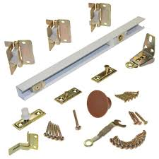 johnson hardware 1700 series 36 in white bi fold track and hardware set for