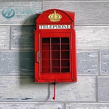neo retro european street london telephone booth ornament with