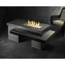 outdoor greatroom company uptown fire pit table with granite tile and supercast top