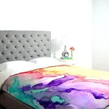 garnet hill duvet cover modern bedding upholstered headboard watercolor trend colorful wallpaper abstract lilly twin flannel