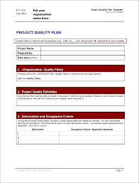 Quality Control Excel Project Quality Management Plan Project Cost Management Plan