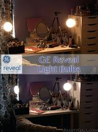 best lighting apply makeup vanity makeover with reveal light bulbs beauty gala