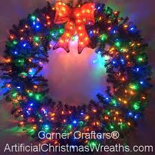large outdoor lighted wreaths 4 foot multi color led wreath large outdoor lighted wreaths