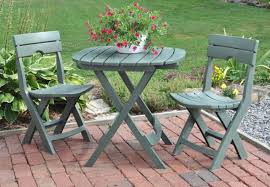 patio bistro set garden cafe table chairs 3 pc quick fold outdoor furniture deck