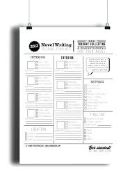 How To Plan A Story Template Novel Writing Template Setting Timeline Story Outline Idea