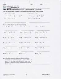 solving quadratics by factoring worksheet algebra 2 solving 323184