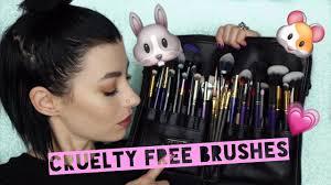 My <b>Cruelty Free</b> Brush Kit   <b>Vegan</b> + Affordable Brushes - YouTube