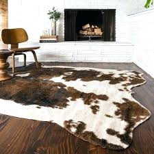 faux hide rugs faux cow skin rug faux animal hide rugs irrational skin home ideas decor