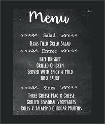 Chalkboard Menu Templates Professionally Printed Chalkboard Menu Sign Download