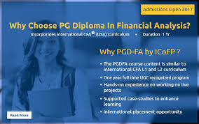 finance analyst courses pg diploma in financial analysis pgdfa post graduate diploma in financial analysis
