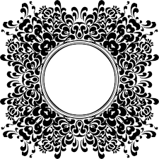 vintage black frame png. Vintage Black And White Frame With Flower Design Vector Clip Art Png