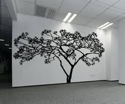 tree silhouette wall art vinyl wall decal sticker wide tree tree silhouette vinyl wall art decal