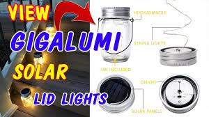 Gigalumi Hanging Solar Lights Gigalumi Hanging Solar Mason Jar Lid Lights