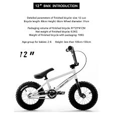 Bike Wheel Size Chart Age Us 209 3 30 Off 12 Inches Kids Child Balance Bicycle Mini Bmx Bike In Bicycle From Sports Entertainment On Aliexpress