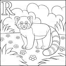 Coloriage Alphabet Animaux De Dessin Anim R Est Pour Le Petit Panda