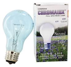 Chromalux Light Bulbs Chromalux A19 60w Clear Light Bulb Full Spectrum Lamplumiram