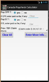 Texas Payroll Calculator Hourly Amazon Com Canada Paycheck Calculator No Advertisements Appstore
