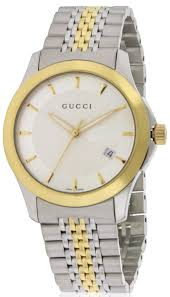 gucci g timeless two tone stainless steel mens watch ya126409 gucci g timeless two tone stainless steel mens watch ya126409