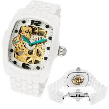 invicta men s and women s lupah watches invicta men s lupah watch white ceramic band gold mother of pearl dial invicta 1114